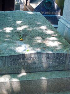 Back to graves. Jean-Marie-Mathias-Philippe-Auguste, comte de Villiers de l'Isle-Adam, author of The Future Eve.